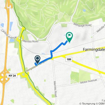 Restful route in Farmingdale