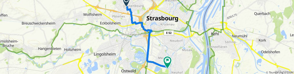 Relaxed route in Strasbourg