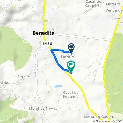 De Rua do Taveiro 42, Alcobaça a Estrada Nacional 8-6, Alcobaça