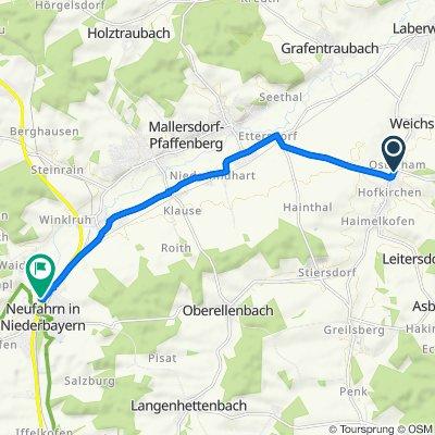 Osterham 60–62, Laberweinting nach Moosweg 4B, Neufahrn in Niederbayern