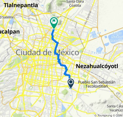De Ermita Iztapalapa 1724, Ciudad de México a Calzada de Guadalupe, Ciudad de México