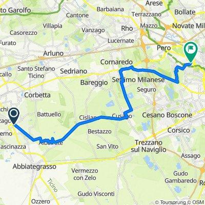 Da Via Ripa Naviglio 19, Robecco Sul Naviglio a Via Venezuela 8, Milano