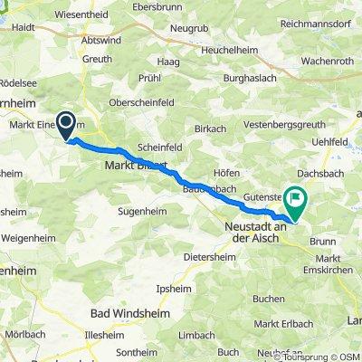 Am Kirchbach 8, Iphofen to Ortsstraße, Diespeck
