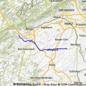 von Rheinhessen an den Fuß des Hunsrücks