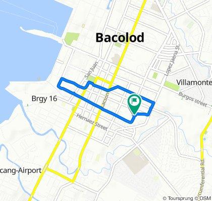 Sta. Ana Street 24, Bacolod to Sta. Ana Street 18, Bacolod