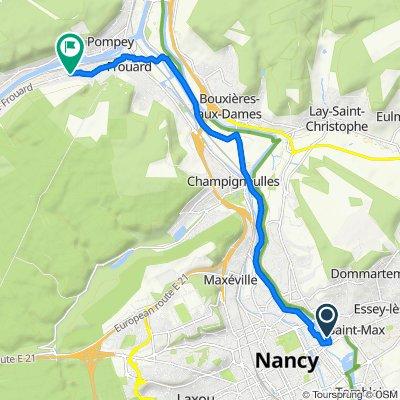De 13 Rue du Pont de la Croix, Nancy à 1–9 Rue de Champagne, Frouard