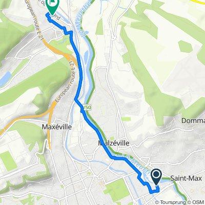 Itinéraire à partir de 13 Rue du Pont de la Croix, Nancy