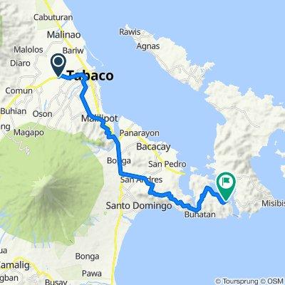 Ligao - Tabaco Road, Tabaco City to Sula Bridge, Bacacay