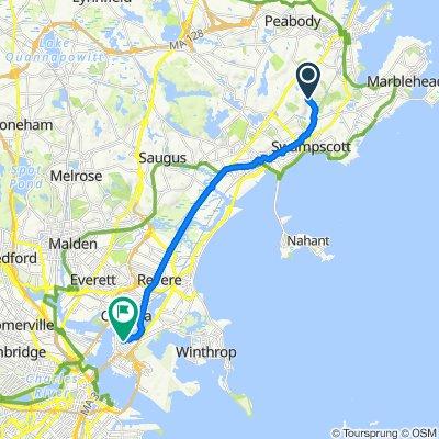 Sporty route in Boston