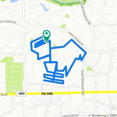 12327 Wedgehill Ln, Houston to 12322 Wedgehill Ln, Houston