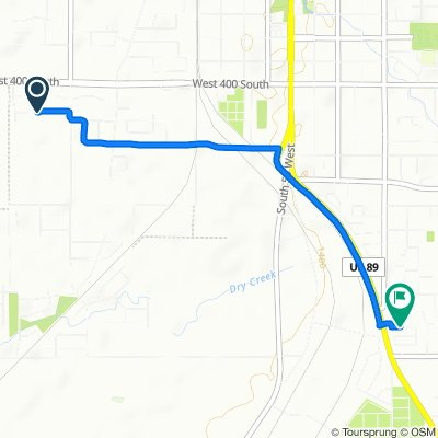 1117 W 400 S, Springville to 400–498 E 1500 S St, Springville