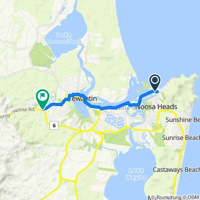 Noosa Parade, Noosa Heads to 186 Cooroy-Noosa Road, Tewantin