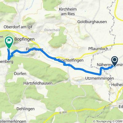 Egergasse 12, Nördlingen nach Sandberg 1, Bopfingen