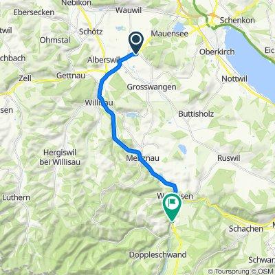 Steady ride in Werthenstein