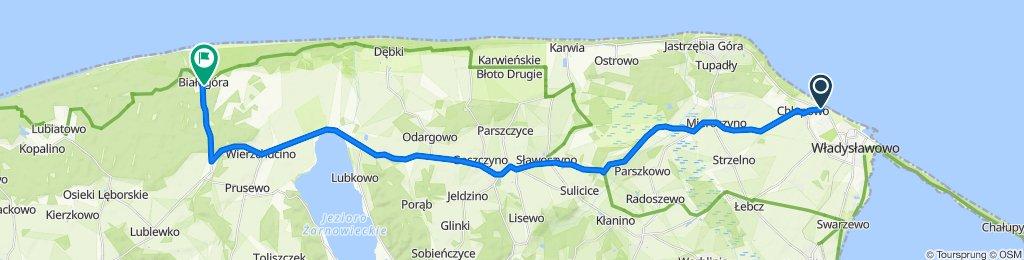 aleja Żeromskiego 174, Władysławowo do Szkolna 4, Białogóra