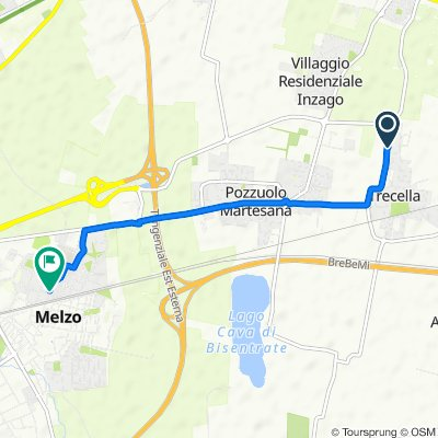 Da Via Buonarroti 50, Trecella a Via Edmondo De Amicis 3/B, Melzo