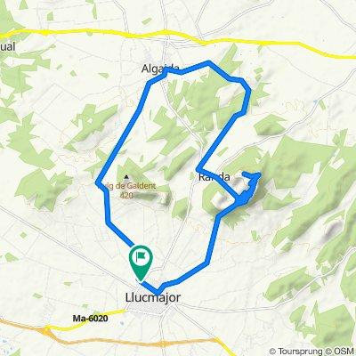 Mallorca: Llucmajor-puig de Randa-Castellitx-Algaida-Llucmajor
