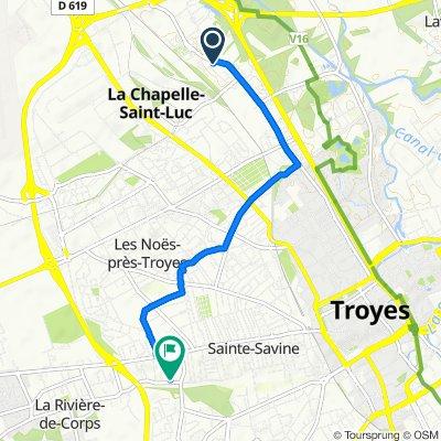 De 1–4 Rue Marceau, La Chapelle-Saint-Luc à 29 Rue Marcel Prin, Sainte-Savine