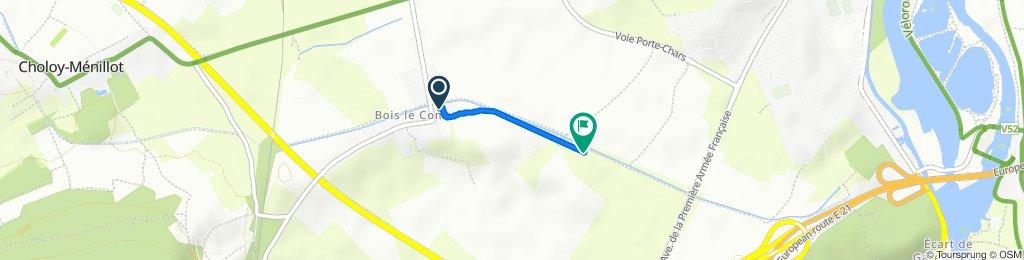 Itinéraire à partir de 9 Rue des Marronniers, Domgermain