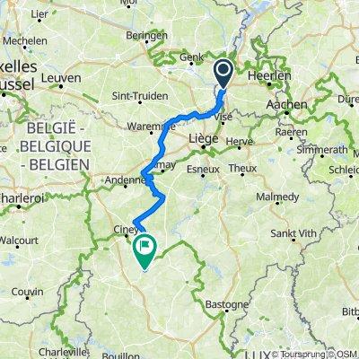 Bikepacking dag 1 Maastricht - Rochefort