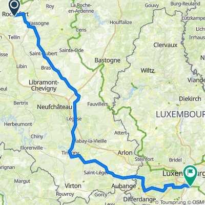Bikepacking dag 2 Rochefort - Luxemburg