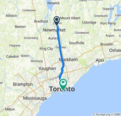 1613 Green Lane E, Newmarket to 1 Yonge St, Toronto
