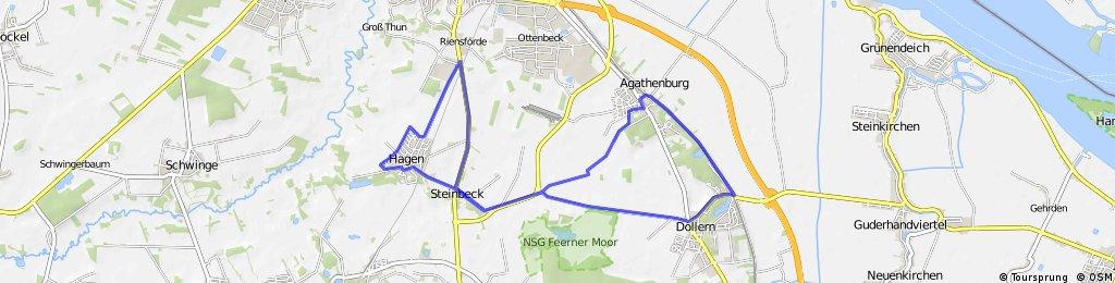 22er Runde Hagen-Dollern-Agathenburg-Hagen