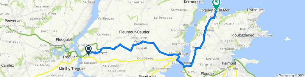 12 Rue de la Chapelle, Trédarzec nach Loguivy-de-la-Mer, Ploubazlanec