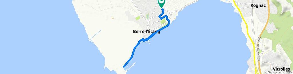 Moderate route in Berre-L'Etang