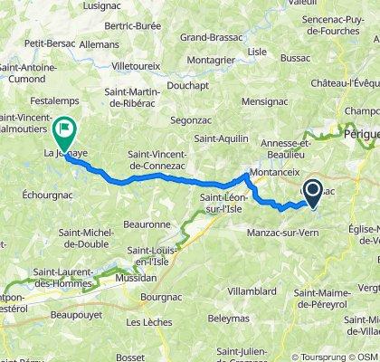 De 6 Route de Broussas, Coursac à D708, La Jemaye
