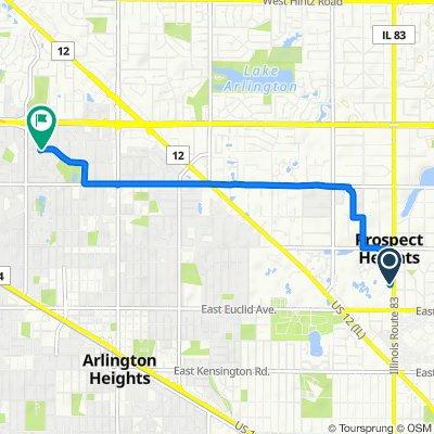 1400 N Elmhurst Rd, Mount Prospect to 1581–1599 N Ridge Ave, Arlington Heights