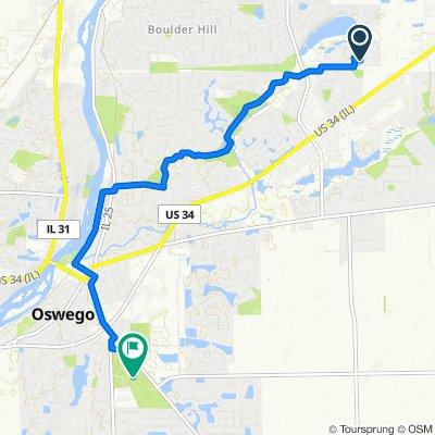 201 Springbrook Trail S, Oswego to 4120 Plainfield Rd, Oswego