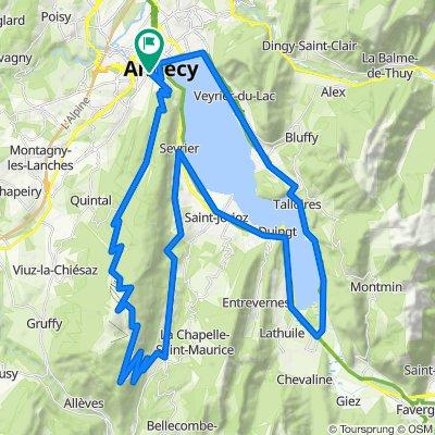 2e étape : Annecy-Semnoz-Annecy