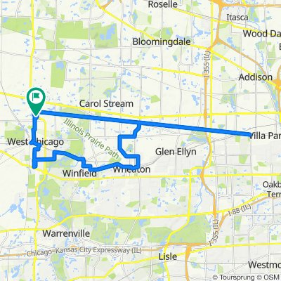 Sporty route in West Chicago