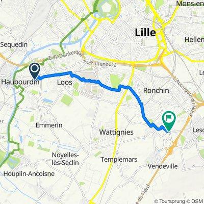Itinéraire modéré en Faches-Thumesnil