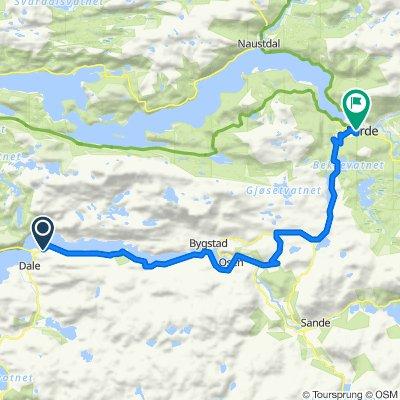 Sætenesvegen, Dale i Sunnfjord to Naustdalsvegen, Førde
