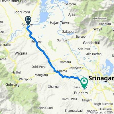 Sopore - Bandipora Road to Srinagar-Budgam Road