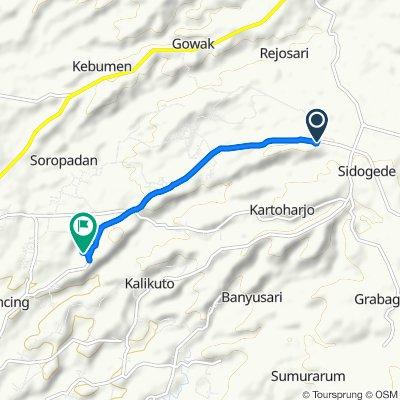 Jalan Grabag - Pucang RT.05, Kecamatan Grabag to Jalan Grabag - Pucang, Kecamatan Secang