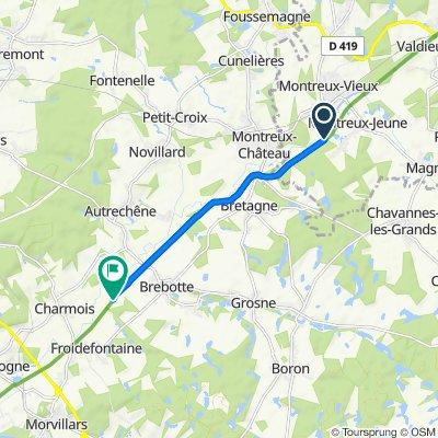Moderate route in Brebotte