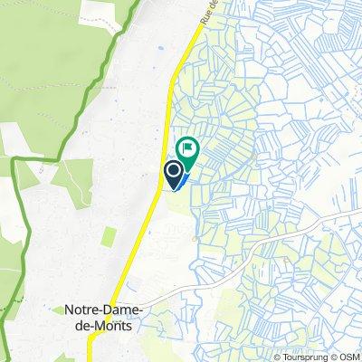 De Route du Clouzy, Notre-Dame-de-Monts à Route du Clouzy, Notre-Dame-de-Monts
