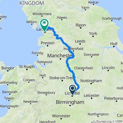 Lichfield to Lancaster