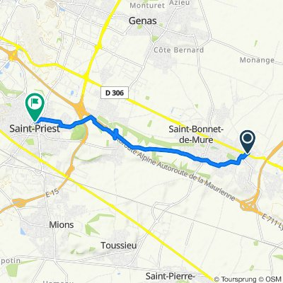 Blistering ride in Saint-Priest