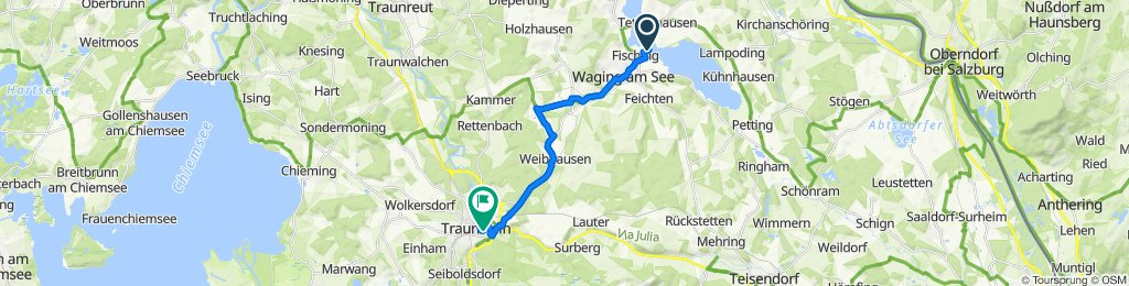 Moderate route in Traunstein