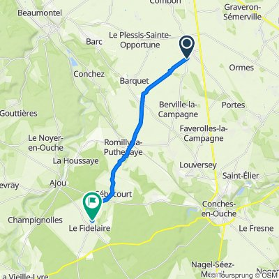 Restful route in Le Fidelaire