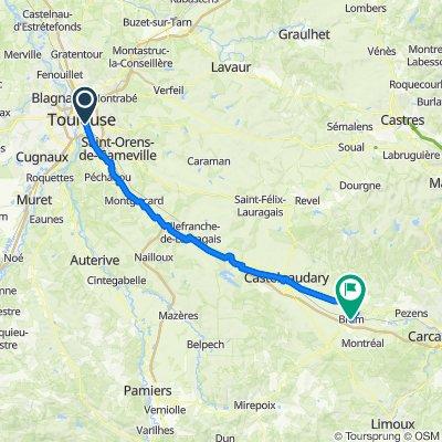 01. Toulouse a Bram 79 km