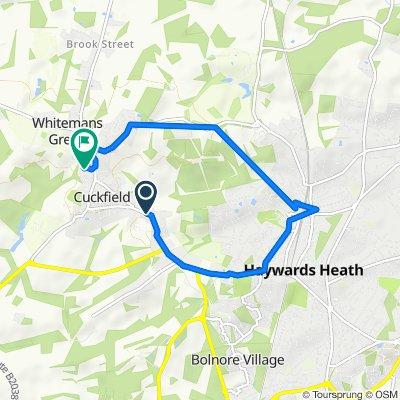 The Wheatsheaf, Cuckfield to Tower House Close 11, Cuckfield