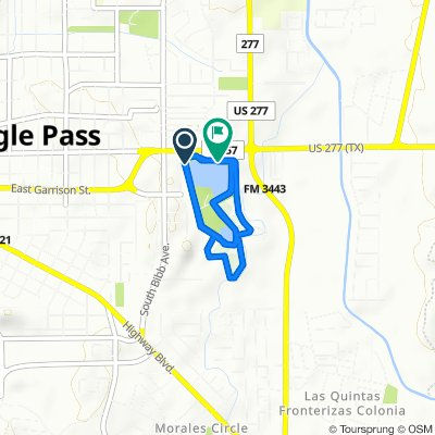 Moderate route in Eagle Pass