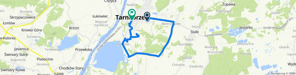 Restful route in Tarnobrzeg
