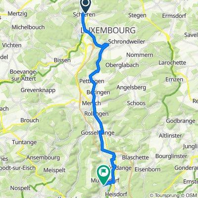 De Route de Stegen 22, Schieren à Rue Paul Eyschen 1, Müllendorf
