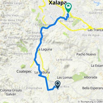 De Carretera a Mahuixtlán, El Grande a Segunda Privada de Agua Santa 8, Xalapa-Enríquez
